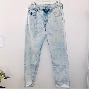 Levi's • Vintage 501 Jeans White Acid Wash 33 32